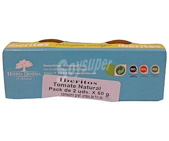 IBERITOS Tomate natural triturado 2 unidades de 50 gramos