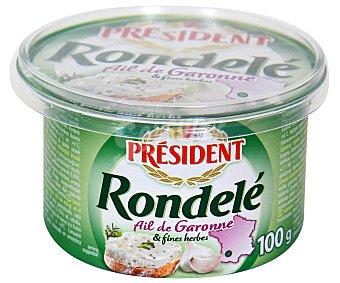 Président Queso de untar Rondelé a las Finas Hierbas 100 g