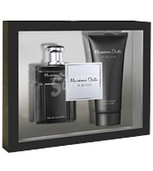 Massimo Dutti Estuche Colonia In Black spray 100 ml + After shave emulsión 100ml. 1 ud