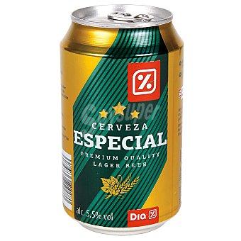 DIA Cerveza rubia especial lata 33 cl Lata 33 cl