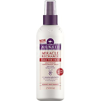 Aussie Tratamiento Miracle Recharge Thake The Heat con aceite de semilla de jojoba australiano Spray 250 ml