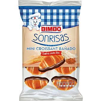 BIMBO SONRISAS Mini Croissant bañado de chocolate bolsa 150 g Bolsa 150 g