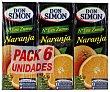 Zumo de naranja Pack 6 briks x 200 ml Don Simón
