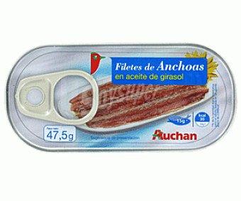 Auchan Tiras de Anchoas en Aceite Girasol 50g