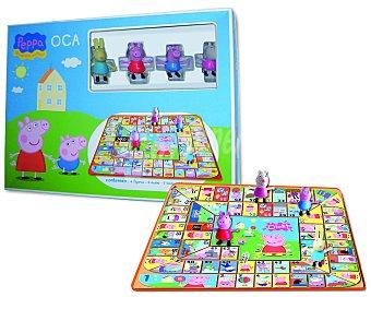 PEPPA PIG Juego de mesa Oca de Peppa Pig, incluye 4 figuras y 4 dados, de 2 a 4 jugadores, 1 unidad