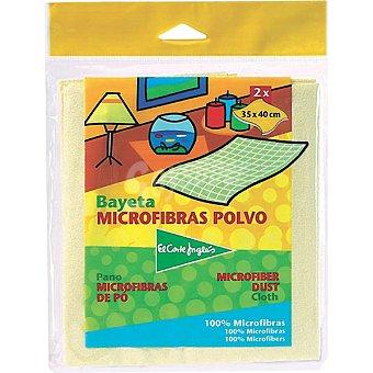 El Corte Inglés Bayeta microfibras polvo Envase 2 unidades