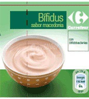 Carrefour Bifidus sabor macedonia Pack de 4x125 g
