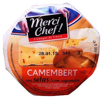 MERCI CHEF Queso untar crema Camembert con setas  Tarrina 100gr