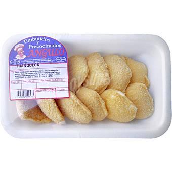 EMBUTIDOS Y PRECOCINADOS ANGULO Triangulos de jamon cocido y queso peso aproximado bandeja 500 g Bandeja 500 g