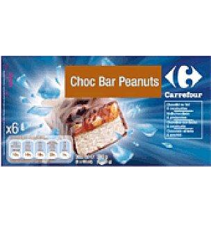 Carrefour Chocolate barrita peanuts 6 ud