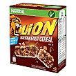 Barritas de cereales con caramelo y chocolate 6 unidades de 25 g Lion Nestlé