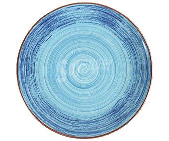 Irabia Plato para postre fabricado en loza portuguesa pintada a mano, 21cm. de diámetro, Spiral Earthenware irabia