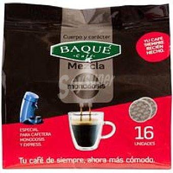 Baqué Café molido mezcla Paquete 16 monodosis