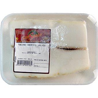 CONSABOR Tocino salado de cerdo ibérico peso aproximado Bandeja 450 g