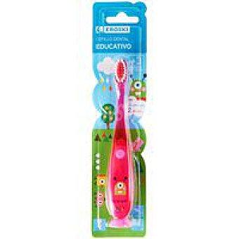Eroski Cepillo dental infantil educativo + 3 años 1 unidad