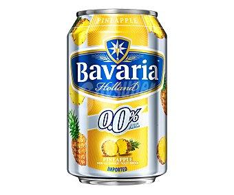 Bavaria Cerveza holandesa sin alcohol 0,0% con piña Lata de 33 centilitros