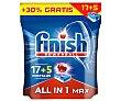 Detergente lavavajillas máquina en cápsulas Todo en 1 poweball 22 uds Finish Powerball