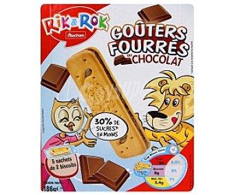 Rik&Rok Auchan Galletas Rellenas de Chocolate 186 Gramos
