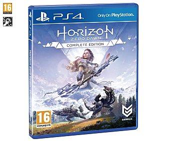 GUERRILLA Horizon Zero Dawn: Complete Edition Ps4 Videojuego Horizon Zero Dawn: Complete Edition para playstation 4. Género: Acción. pegi: +16