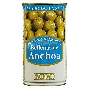 Hacendado Aceituna rellena anchoa suave Lata 350 g escurrido 150 g