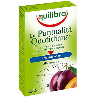 EQUILIBRA Puntualidad Cotidiana Regula el tránsito intestinal 50 tabletas 6,250 g