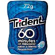 Chicle 60 minutos sabor peppermint Bote 80 gr Trident