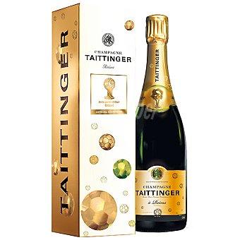 Taittinger Champagne etiqueta mundial del futbol Botella 75 cl