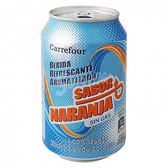 Carrefour Bebida Isotónica sin gas sabor naranja Lata 33 cl