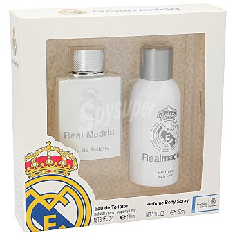 Real Madrid Pack colonia 100 ml + body Spray 150 ml