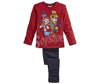 Patrulla Pijama largo para niño CANINA, color rojo, talla 10