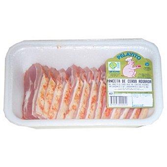 PELAYITO Panceta adobada de cerdo en filetes peso aproximado Bandeja 450 g