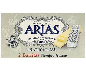 Arias Pastilla de mantequilla tradicional sin sal 2 x 62.5 g