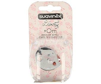 Suavinex Broche chupete vintage de color rosa 1 unidad
