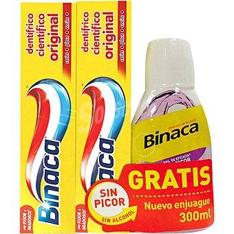 Binaca Pasta de dientes amarilla + regalo elixir frasco 300 ml Pack 2