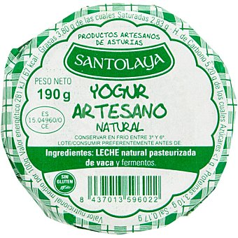 Santolaya Yogur natural Tarro 200 g