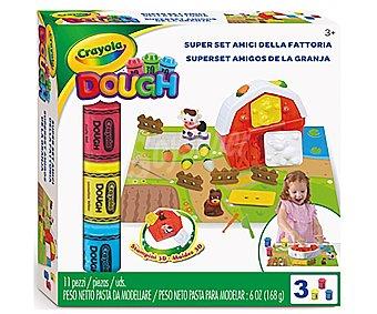 Crayola Set amigos de la granja para crear figuritas de animales con la pasta moldeable, crayola.