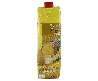 Auchan Néctar de pera y piña Brik 1 litro