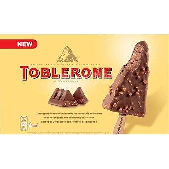 TOBLERONE Bombón helado con cobertura crujiente sabor 4 unidades (estuche 400 ml)