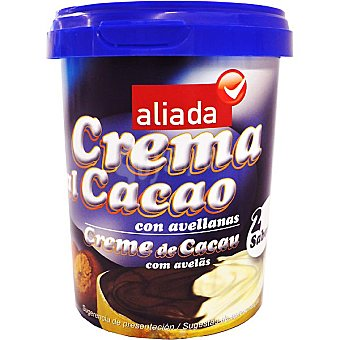 Aliada Crema de cacao con avellanas 2 sabores  g