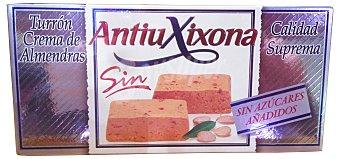 Antiu Xixona Turron sin azúcar crema de almendra (blando)  Pastilla 200 g