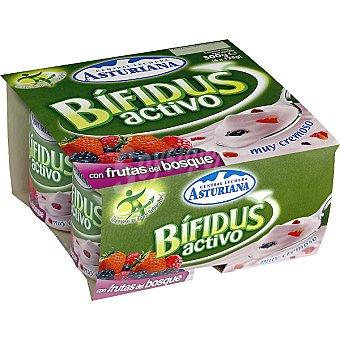 ASTURIANA BIFIDUS ACTIVO con frutas del bosque Pack 4 unidades 125 g