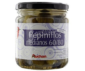 Auchan Pepinillos en vinagre 60/80 piezas extra 180 gramos