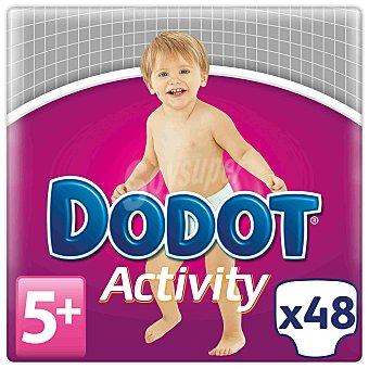 Dodot Activity pañales protection plus de 12 a 17 kg talla 5+ Extra absorción Paquete 48 unidades