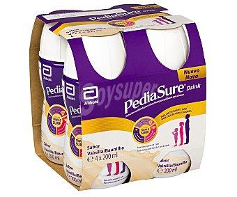 Pediasure Complemento nutricional para niños a partir de 1 año, listo para beber y sabor a vainilla 4 x 200 ml