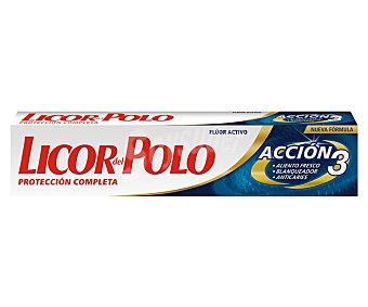 Licor del Polo Dentífrico Acción 3 (protección, Frescor y Blanqueador) 75ml