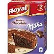 Preparado para hacer tarta de chocolate con Milka Estuche de 12 raciones 350 g Royal
