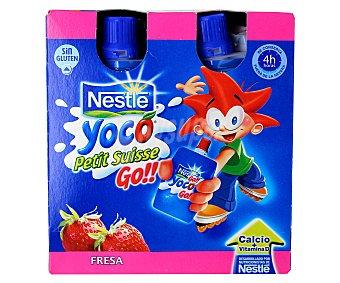 Nestlé Yoco Go de fresa Pack 4x80 g