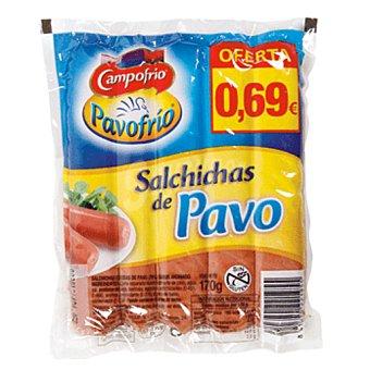 Campofrío Salchichas de pavo Envase 5 uds 170 gr