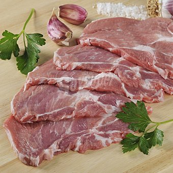 Carrefour Cabeza de lomo de cerdo fileteada Bandeja de 450.0 g.