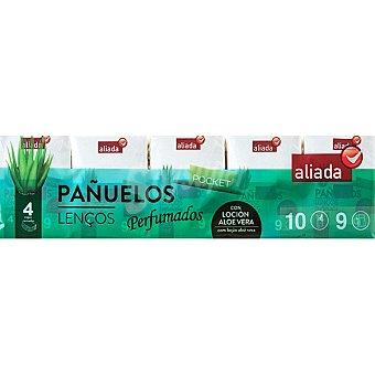 Aliada Pañuelos Pocket perfumados con loción aloe vera 4 capas Paquete 10 unidades